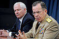 Defense.gov News Photo 100624-D-9880W-101 - Chairman of the Joint Chiefs of Staff Adm. Mike Mullen joined Secretary of Defense Robert M. Gates in a Pentagon press conference to discuss the.jpg