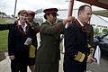 Defense.gov News Photo 101109-N-0696M-236 - Chairman of the Joint Chiefs of Staff Adm. Mike Mullen U.S. Navy and his wife Deborah are presented leis after their arrival in the Kingdom of.jpg