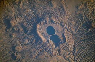 Ethiopian Highlands - Dendi Caldera, a collapsed volcano in the mountain region