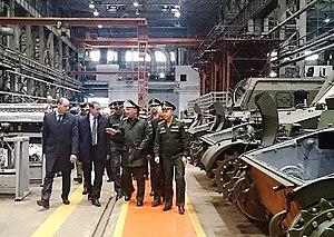 Uraltransmash - Deputy Minister of Defense Yuriy Borisov visiting Uraltransmash in 2016