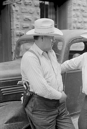 Sheriffs in the United States - A sheriff in the state of New Mexico in 1940