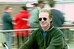 Derek Daly in the paddock before the 1993 British Grand Prix (32844003434).jpg