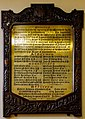 Derry Guildhall Commemorative Plaque of the Opening in 1890 2019 08 29.jpg