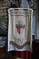 Derry St Columb's Cathedral North Aisle Standard of the Diocese of Derry and Raphoe 2013 09 17.jpg