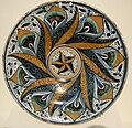 Deruta maiolica (attr.), piatto con decorazione a occhio di pavone, 1470-1500 ca..JPG