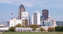 Skyline of Des Moines, Iowa