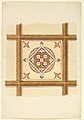 Design for a Coffered and Painted Ceiling in Rust and Olive Green, with a Quatrefoil Motif MET DP820939.jpg