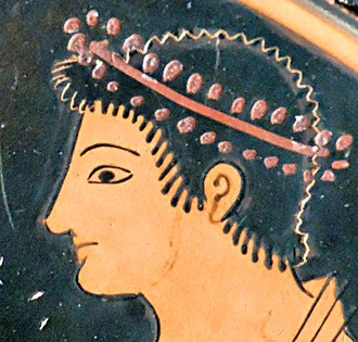Epiktetos - Details of a head in the scene above
