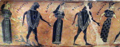 Detail of Dancers on Attic Black-Figure Volute-Krater, known as the François vase, ca. 570-565 BCE.png