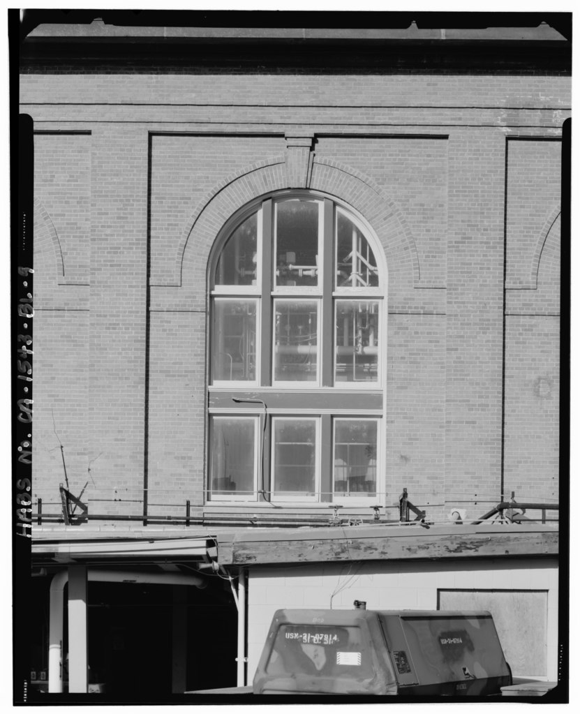 File detail of window on west elevation camera facing for Window elevation