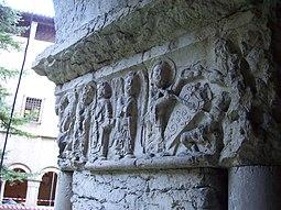 Friso del pilar central, galería sur: Anastasis