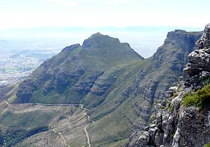 Devil's Peak from the Summit of Table Mountain.jpg