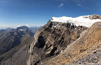 Diablerets - The main summit from the southeast side