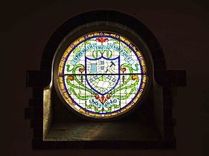 Diamond jubilee - Diamond Jubilee window at the College of Engineering, Pune, India