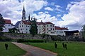 Discovering the Czech Republic by my son Bas and Ruud on bikes gives nice citypanorama of VyssiBrod with a monastry and a museum - panoramio.jpg
