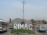 District sign Peru Lima Rímac.jpg