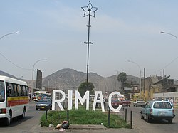 District sign Peru Lima Rímac.jpg