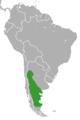 Dolichotis patagonum range map.png
