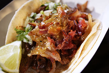 English: Don Chow Tacos Ultimate LA Taco