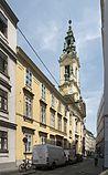 Pfarrhaus und Hauptfront der Reformierten Stadtkirche an der Dorotheergasse