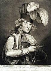 Mrs. Jordan in the Character of Hypolita, mezzotint by John Jones of London, 1791, after a painting by John Hoppner (Source: Wikimedia)