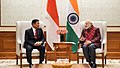 Dr. H. Wiranto, Indonesia's Coordinating Minister for Political, Legal and Security Affairs, calls on the Prime Minister, Shri Narendra Modi, in New Delhi on January 09, 2018 (1).jpg