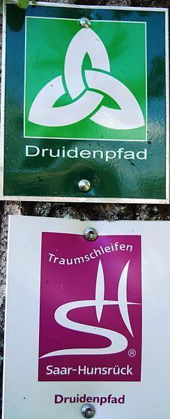 Markierungszeichen des Druidenpfades