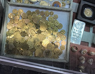Gold coin - Gold coins for sale in the Dubai Gold Souk