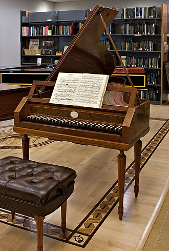 Ira F. Brilliant Center for Beethoven Studies - Visitors can play the reproduction of a 1795 Dulcken fortepiano.