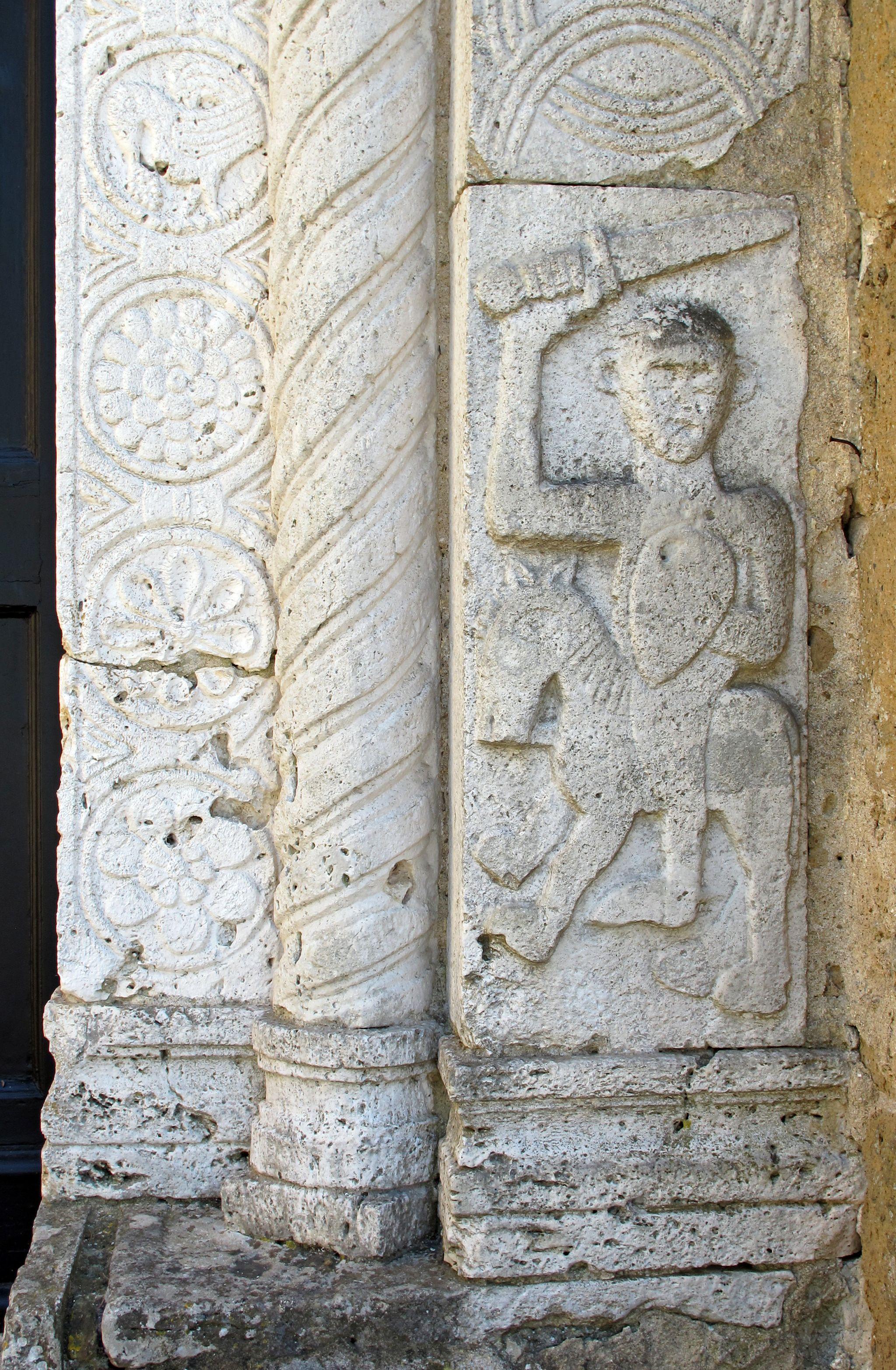 Duomo di sovana, ext., portale 09