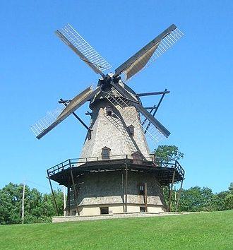 Fox River Trail (Illinois) - Windmill at Fabyan Park