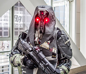Killzone (series) - A professional model for the Killzone franchise, pictured at E3 2013.