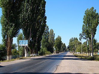 Tamchy - Main street of Tamchy