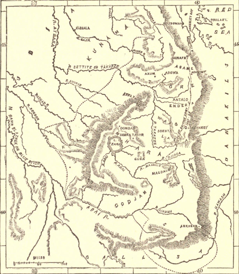 """A Sketch Map of Abyssinia"" by John Bartholomew (1878)"