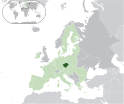 Location o Bohemie in the European Union
