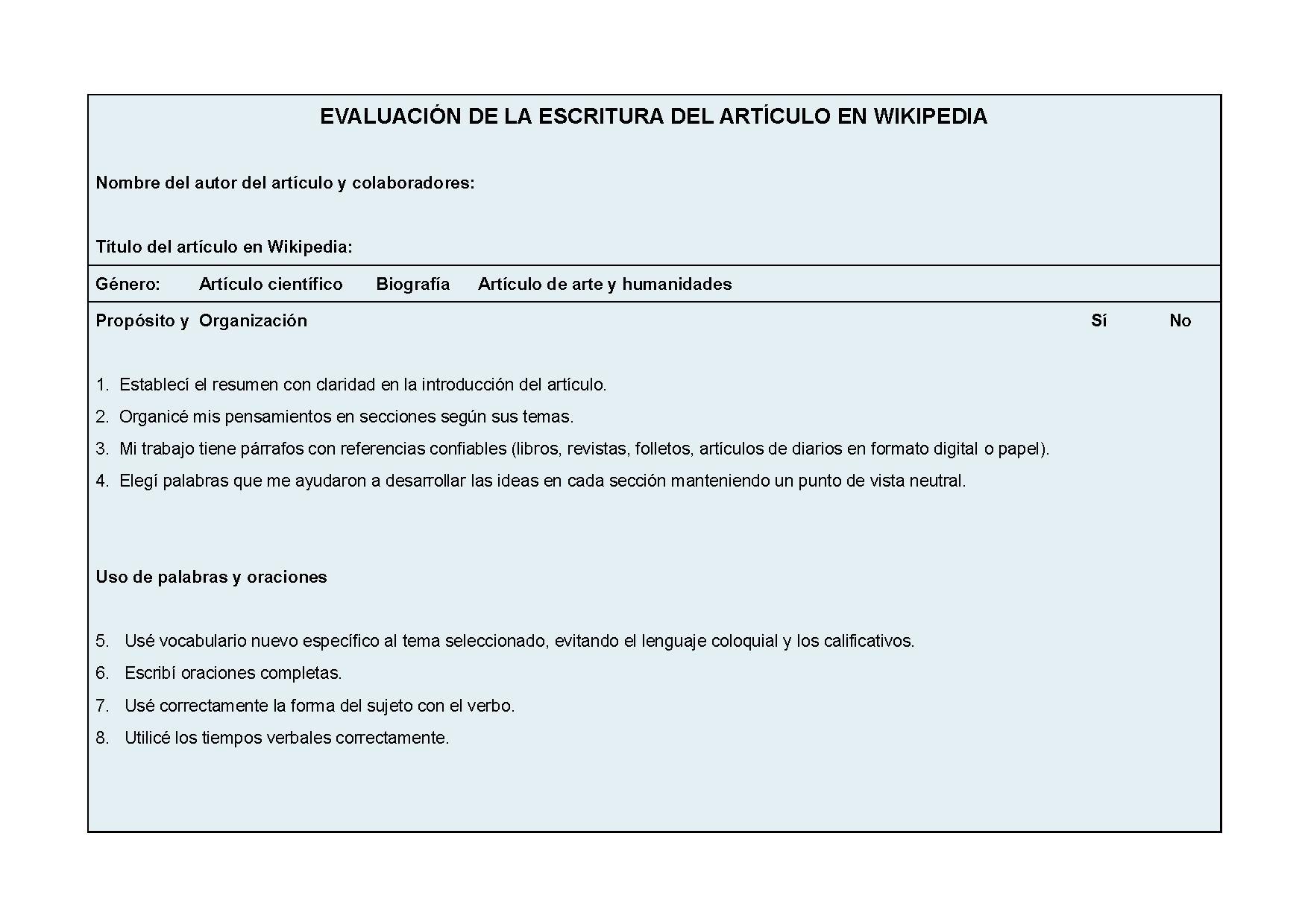 Archivo:EVALUACIÓN DE LA ESCRITURA DEL ARTÍCULO EN WIKIPEDIA.pdf ...