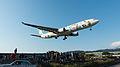 EVA Air Airbus A330-302X B-16333 Final Approach to Taipei Songshan Airport 20150102a.jpg