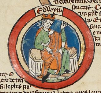 Eadwig - Eadwig in the early fourteenth-century Genealogical Roll of the Kings of England in the British Library
