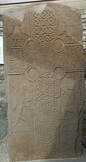 Eassie Stone Pictish carved monumental stele in Scotland