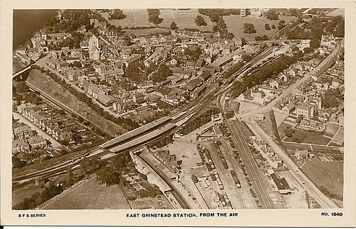 East Grinstead station (aerial view)