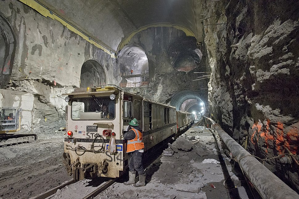 East Side Access GCT cavern with work train