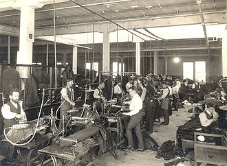 Labour law - Interior of one of the Eaton's factories in Toronto, Canada