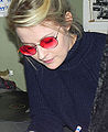 "Edda Magnason signing her latest album, ""Woman Travels Alone"", 2014.jpg"