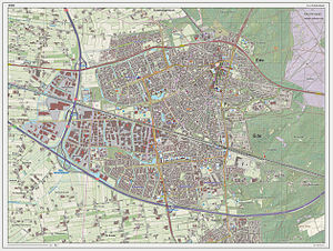 Ede, Netherlands - Dutch Topographic map of Ede (town), March 2014