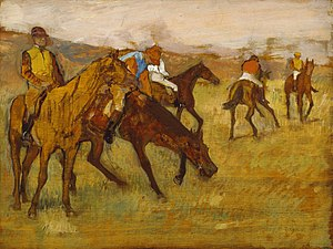 Before the Race - Image: Edgar Degas Before the Race Walters 37850