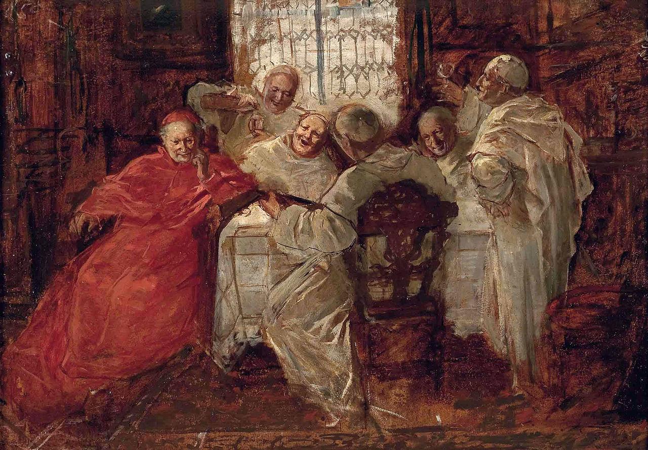 Eduard von Grützner (Schule) Kardinal mit singenden und trinkenden Weissen Vätern.jpg