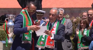 Marcelo Rebelo de Sousa - President Marcelo de Sousa awards the Order of Merit to the players of the national football team after their Euro 2016 win.