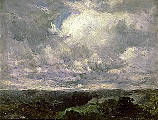 Untitled (landscape, cloudy sky)