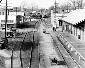 Edwards, Mississippi - The railroad station in 1936