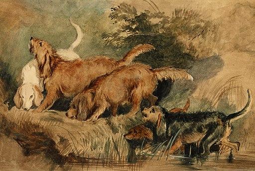Edwin Henry Landseer - 'Otterhounds', 1838-44